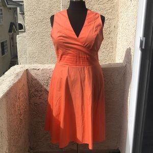 ModCloth tropical wear orange dress